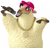 pic of rapper  - 3 d cartoon cute rapper yellow sheep - JPG