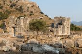 picture of dalyan  - Kaunos ancient city in Dalyan Town Turkey - JPG