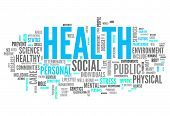 image of health  - Word Cloud Image Graphic with Health related tags - JPG