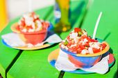 stock photo of conch  - Two bowls of Bahamian conch salad  - JPG