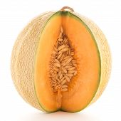 stock photo of muskmelon  - Juicy honeydew melon on a white background - JPG