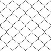 image of chain link fence  - Realistic wire chain - JPG