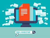 stock photo of spam  - Vector email marketing concept  - JPG