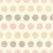 stock photo of dots  - Vector vintage textile polka dots seamless pattern background - JPG