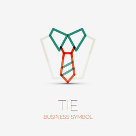 picture of logo  - tie and shirt company logo design - JPG