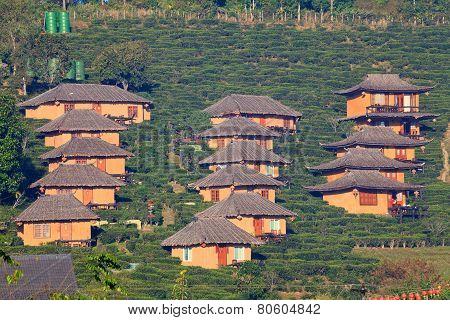 House Made Of Clay At Rak Thai Village, Mae Hong Son, Thailand