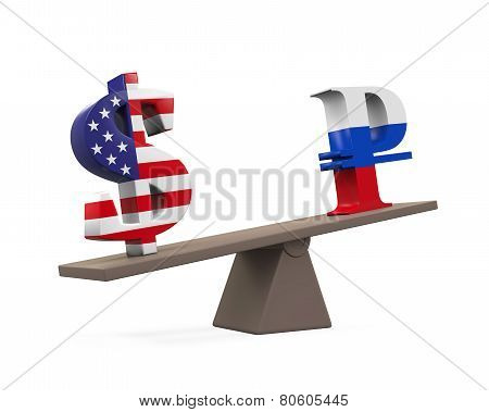 Dollar and Ruble on Seesaw