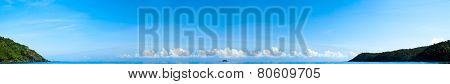 Paradise Blue Ocean Water Panorama