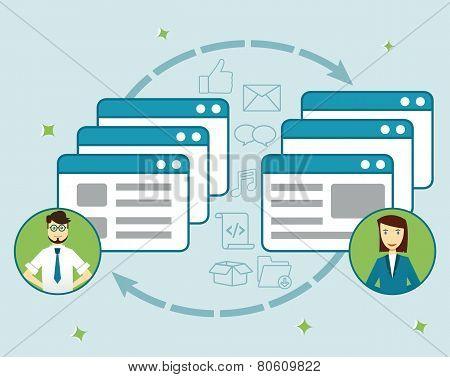 Concept Social Network. Sharing Information