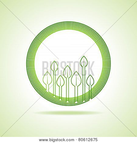 Ecology concept - Leaf background stock vector