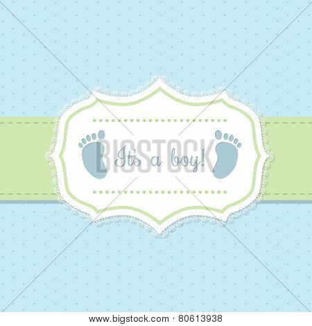 Baby Shower Invitation Design In Blue And Green