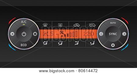 Dual Air Condition Dashboard Design