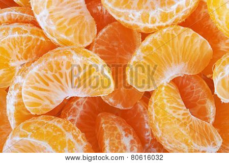 Tangerine or Mandarin Fruit background, close-up