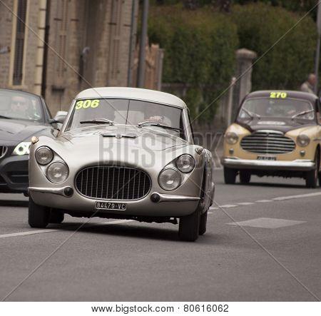 OLB CAR FIAT 8V berlinetta 1954 MILLE MIGLIA 2014
