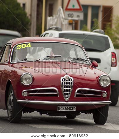 OLD CAR Alfa Romeo Giulietta Sprint 1954 MILLE MIGLIA 2014