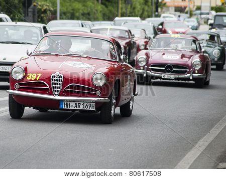 OLD CAR Alfa Romeo 1900 Super Sprint Touring 1956 mille miglia 2014