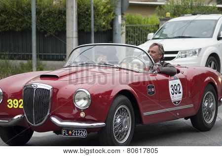 OLD CAR Lancia Aurelia B24 spider America 1955 MILLE MIGLIA 2014