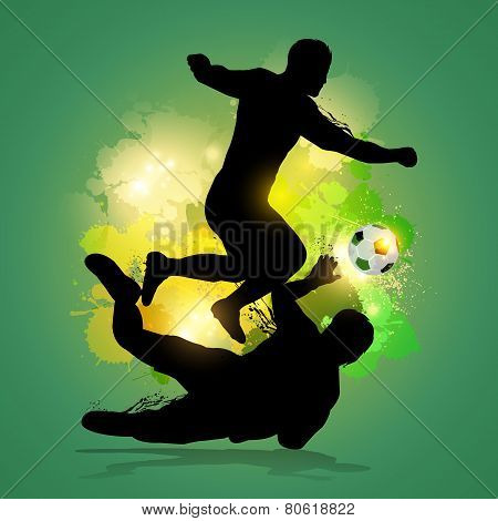 Soccer Player Dribbles Through Goalkeeper