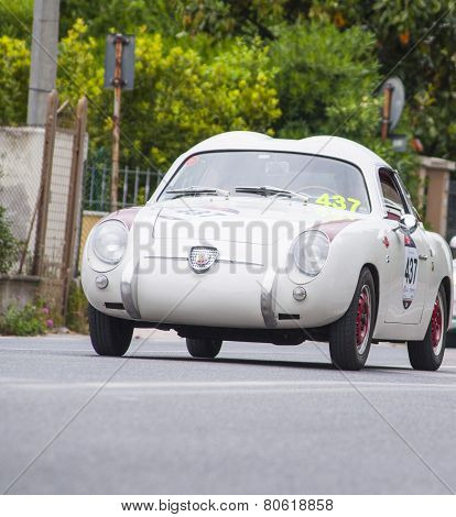 old car  Abarth FIAT 750 berlinetta Zagato 1957 mille milglia 2014