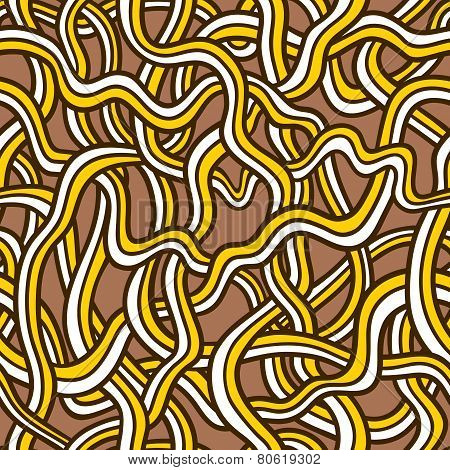 Tangled doodle pattern snakes