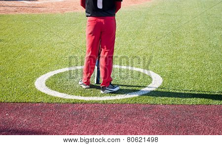 Baseball Player On A Baseball Match