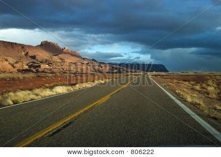 ominous road