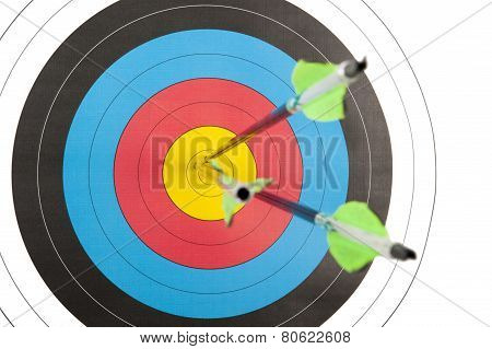 Archery Target With Three Arrows