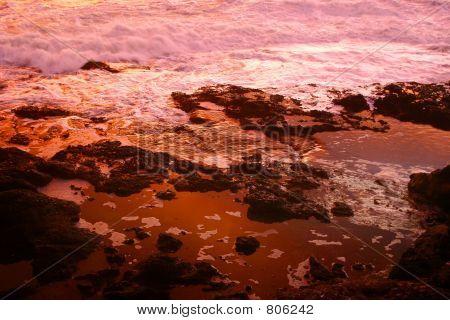 Sunset tidal pool