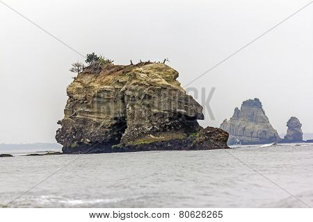 Rock Protruding From The Sea, Japan