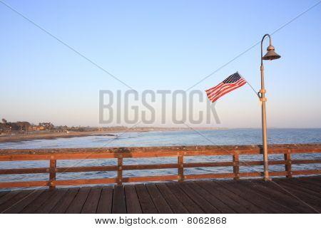 San Buenaventura Pier At Dusk