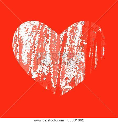 Abstract background with scratched heart