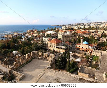 Byblos from the Crusader Castle