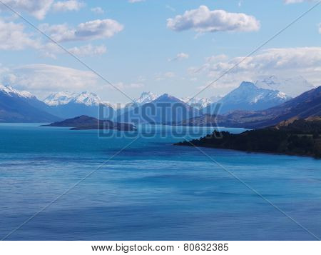 Lake and Mountains in Queenstown