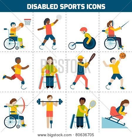 Disabled Sports Icons