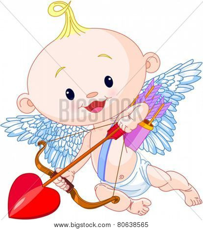 Valentine�¢??s Day Cupid aims archery