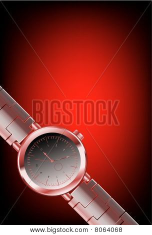 Clock on a red background. Look for more great images in my portfolio