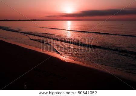Sea twilight sunset