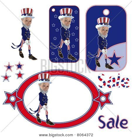 Uncle Sam cartoon character