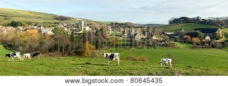 English village Abbotsbury Dorset UK in the countryside