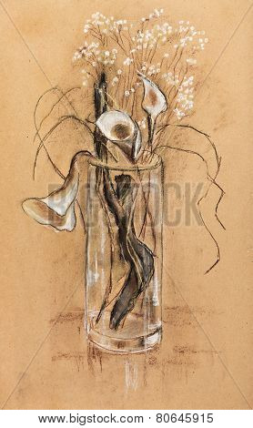 Wooden Snag In Vase