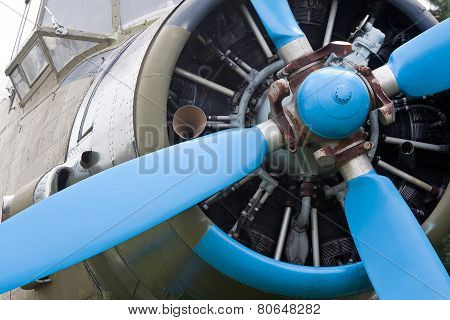 Front Of A Vintage Plane