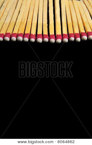 Matches Isolated On Black Background