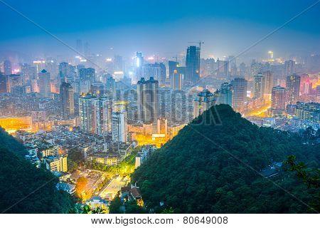 Guiyang, Guizhou, China downtown city skyline.