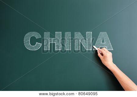 china written on blackboard