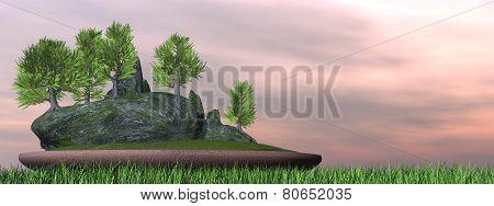 Japanese cedar tree bonsai - 3D render