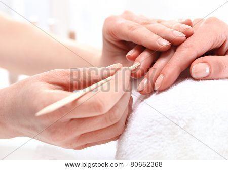 Beauty salon manicure
