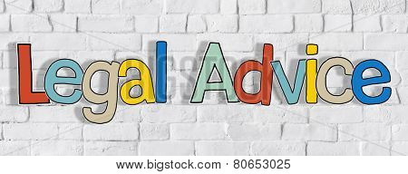 Legal Advice Brick wall Single Word Text Background Clean Concept