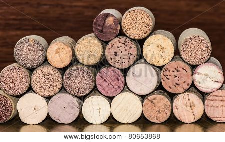 Wine Bottle Corks Transverse View