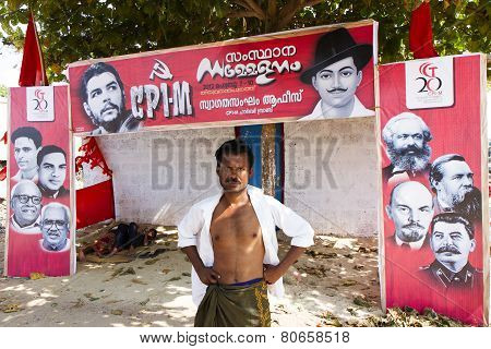 Campaign During The Communist Party Elections In Kerala