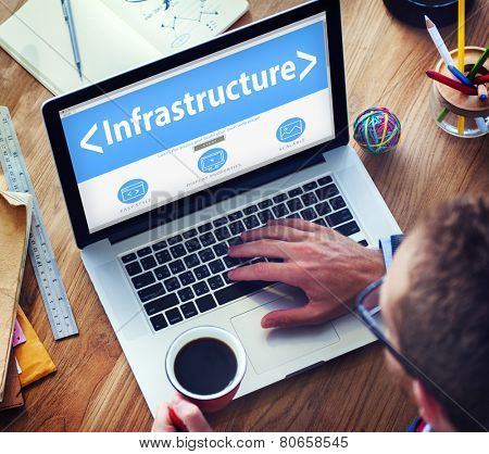 Digital Online Infrastructure Organization Facilities Office Browsing Concept
